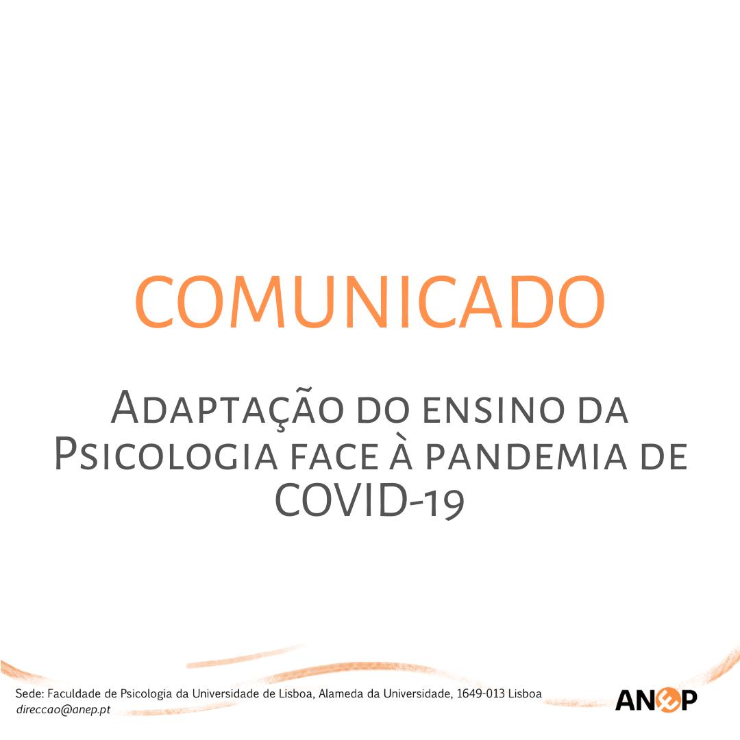 Adaptação do ensino da Psicologia face à pandemia de COVID-19
